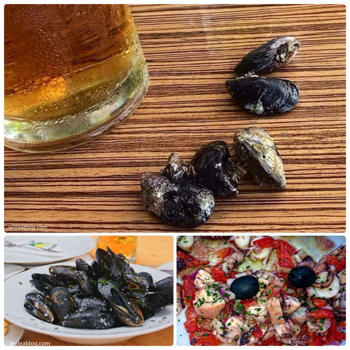 Chorwacja Hrvatska Brela Riwieramakarska naplazy ontheseaside nadmorzem adriatyk Eu Europe Balkany Wakacje Holiday Travellers Journey salad salatka malze seafood owocemorza mule