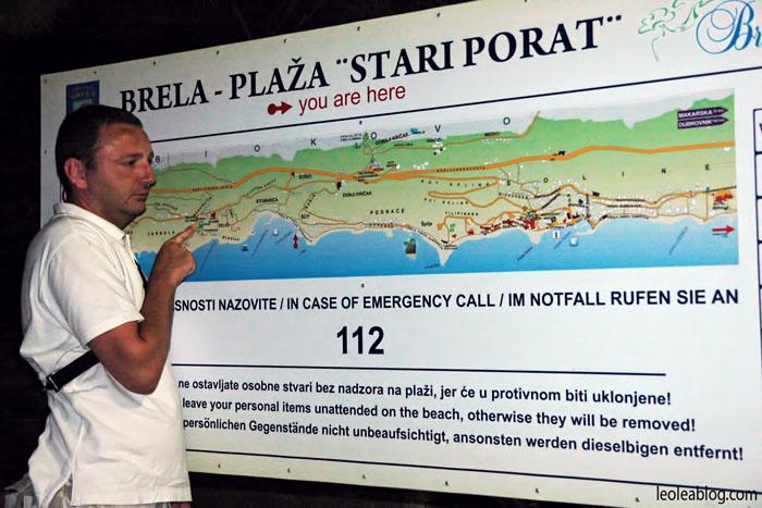 Hrvatska Chorwacja Brela plaza stariporat Eu Europe Balkany Wakacje Holiday Travellers Journey
