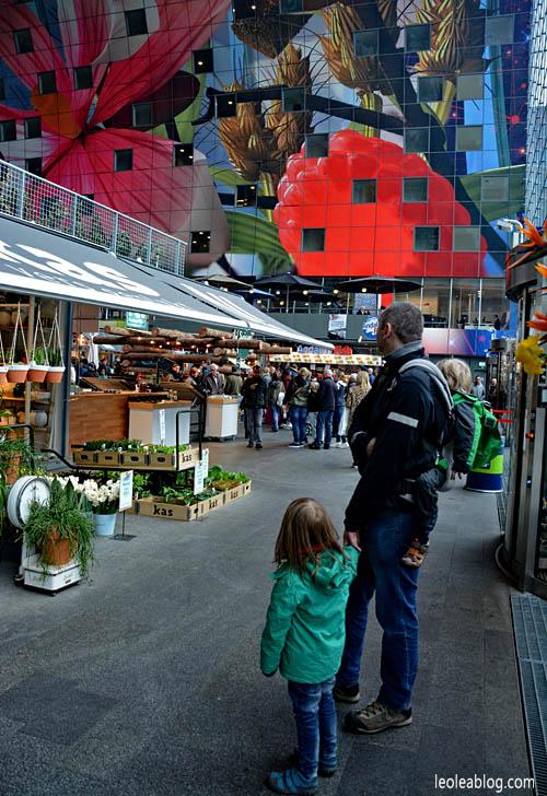 rotterdam holland holandia markthalinside markthal