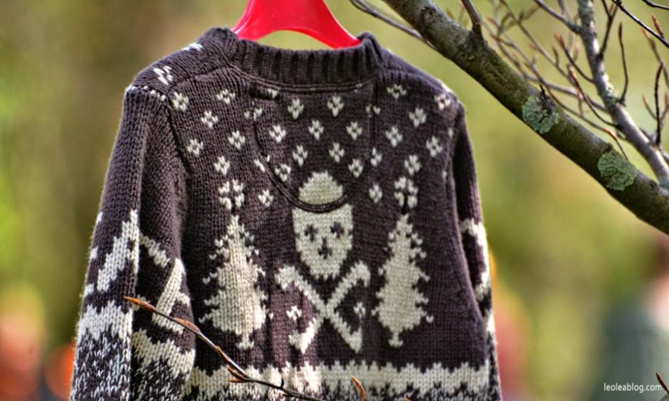 Breda Holland Holandia Swietokrola Koningsdag Swietonarodowe Sweater Sweter Oranje Skull czaszka