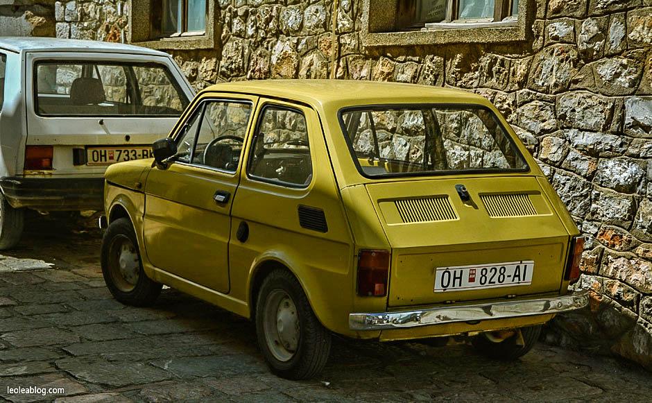 ochryda ohrid macedonia makedonia balkans bałkany unesco retro car fiat126p maluch