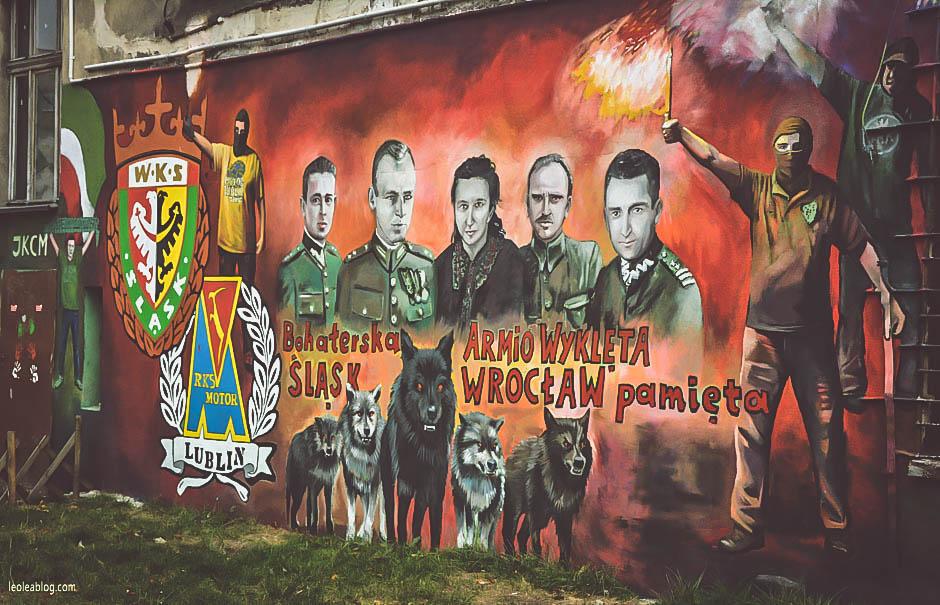 wrocław wroclove dolnyśląsk wrocławskieulice ulica wrocławskaulica roosveltastreet mural urban urbanart art streetart wallpaint polska poland polishart armiawyklętych wks wksśląsk motorlublin herb