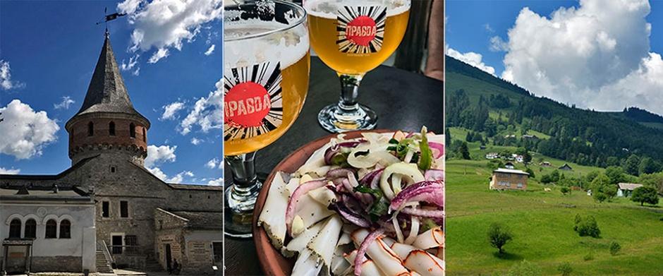 ukraina, podróż, góry, zakarpacie, piwo, salo,
